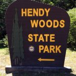 Hendy Woods State Park sign